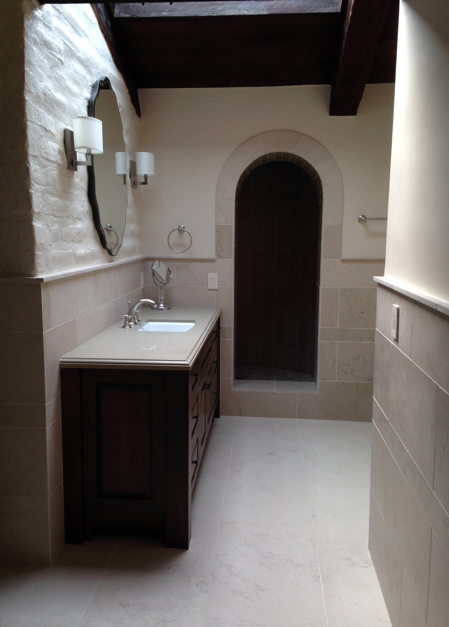 Stone and tile remodels by Michelangelo Enterprises, San Diego, California